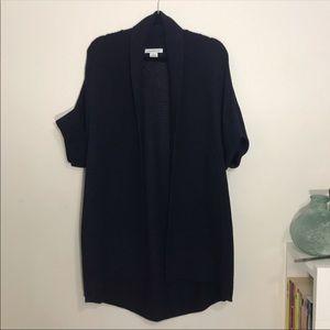 Liz Claiborne | Navy Short Sleeve Knit Cardigan S